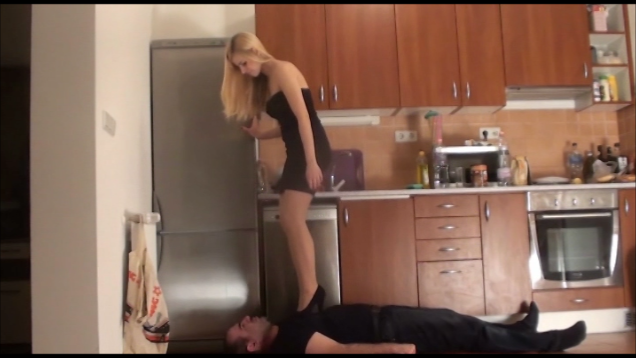FLORA – The Pervert Uncle – MERCILESS high heels trampling, facestanding and kicking PART1