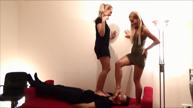 Shikra and Isla – Trampling and Footdomination (At The Same Time) Part1