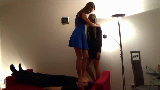Thalia and Mariella Trampling, Kicking and Facestanding  (Sisters Trampling Trilogy Part1)