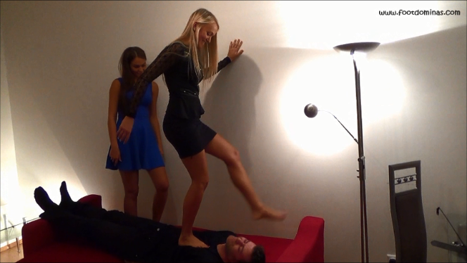 Thalia and Mariella Trampling and Facekicking (Sisters Trampling Trilogy Part2)